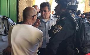 העימותים בהר הבית (צילום: דוברות המשטרה, חדשות)