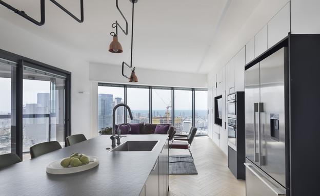 קומה 41, עיצוב הנקין שביט, מטבח (צילום: אסף פינצ'וק)