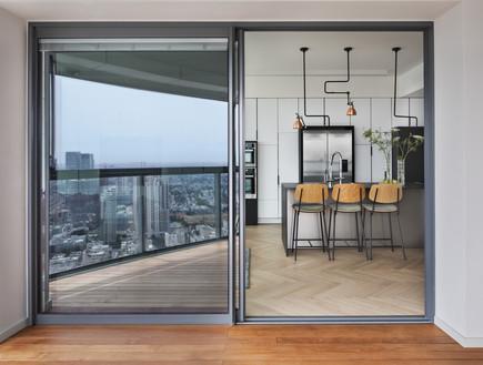 קומה 41, עיצוב הנקין שביט, המרפסת והמטבח