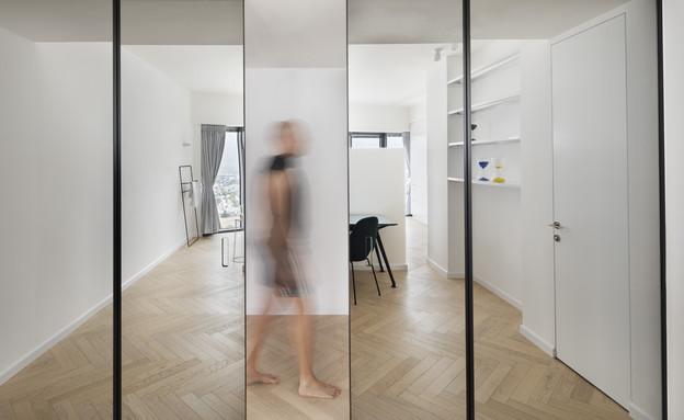 קומה 41, עיצוב הנקין שביט, חדר עבודה (צילום: אסף פינצ'וק)