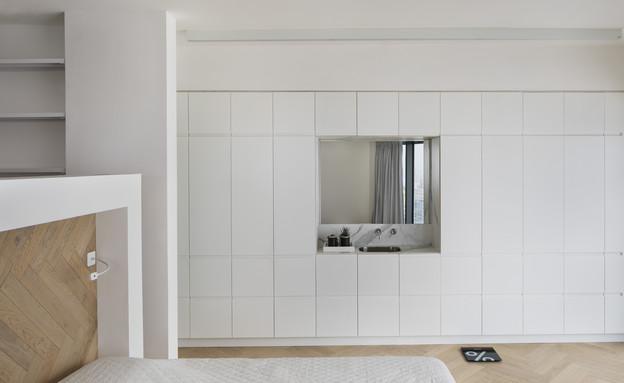 קומה 41, עיצוב הנקין שביט, חדר שינה (צילום: אסף פינצ'וק)