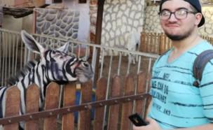 סלפי בגן החיות (צילום: פייסבוק\ Mahmoud A. Sarhan)