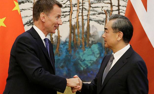 האנט וואנג יי בפגישה בביג'ין (צילום: SKY NEWS, חדשות)