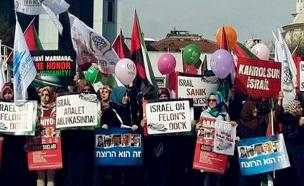 הפגנה בטורקיה נגד ישראל (ארכיון) (צילום: טוויטר, חדשות)