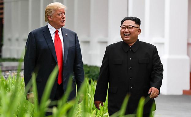 ישחזר את ההצלחה? טראמפ וקים (צילום: AP, חדשות)