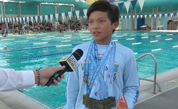 """""""סופרמן"""" בן ה-10 ניצח את פלפס (צילום: CNN, חדשות)"""