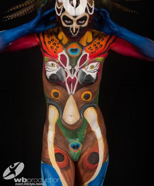 ציורי גוף רותם לוץ זיידן