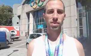 צפו: הישראלי שזכה במדליה באולימפיאדה הגאה (צילום: החדשות)