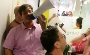 כך נראתה מחאת עובדי התאגיד (צילום: חדשות)