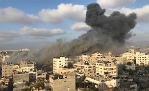הפצצת הבניין בעזה (צילום: חדשות)