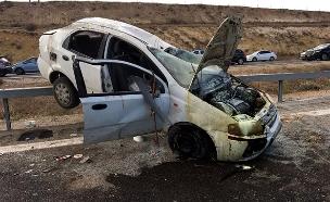 """תאונה בכביש 6 (צילום: דוברות מד""""א, חדשות)"""