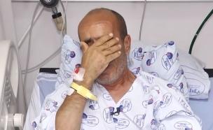 """תושב שדרות סיפר בדמעות: """"בני הציל את חיי"""" (צילום: מתוך """"חדשות הבוקר"""" , קשת 12)"""