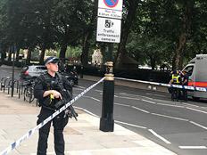 זירת אירוע הדריסה בלונדון (צילום: AP)