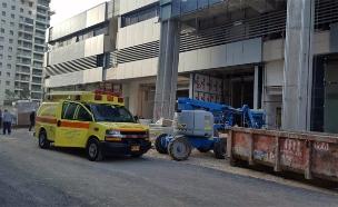 """27 נהרגו באתרי בנייה מתחילת השנה (צילום: אסף אירלנדר דוברות מד""""א, חדשות)"""