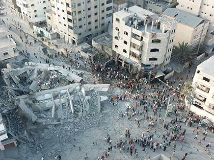 הרס בעזה לאחר הפצצת צה