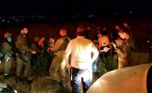 כוחות ההצלה בזירה, אמש (צילום: דיווחי הרגע, חדשות)
