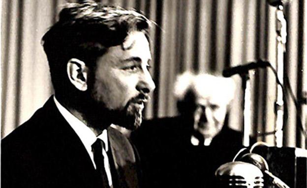 אבנרי ובן-גוריון בכנסת (צילום: J. AGOR, מתוך ארכיון אורי אבנרי, הספרייה הלאומית, חדשות)