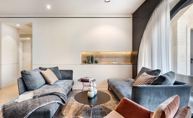 דירה בממילא, עיצוב סטודיו חזק (1) (צילום: עודד סמדר)