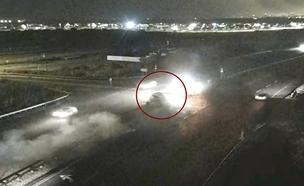 נכנס לצומת היישר לתאונה החזיתית (צילום: נתיבי ישראל, חדשות)