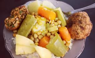 קוסקוס אמיתי עם מרק וקציצות (צילום: יונית סולטן צוקרמן, אוכל טוב)