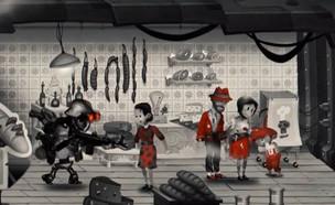 """סערה: משחק שבו ילדים בורחים מרובוטים נאצים (צילום: מתוך """"נקסט"""", קשת 12)"""