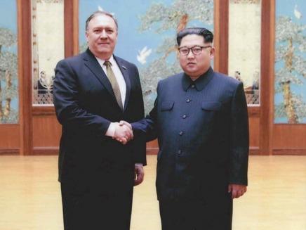 פומפיאו בביקורו האחרון בקוריאה הצפונית