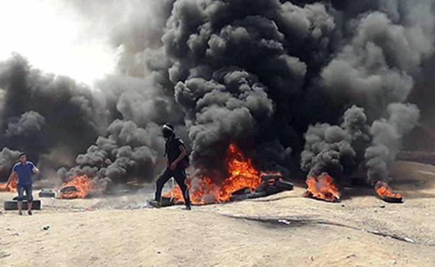 ההפגנות האלימות על הגדר יימשכו? (צילום: חדשות)