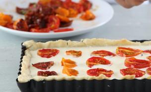 טארט עגבניות שרי (צילום: מתכוניישן)