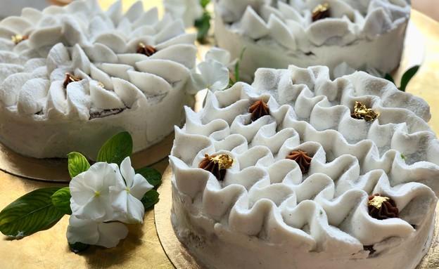 עוגת וניל ותפוחים, ג'לטריה (צילום: צביקי עשת, יחסי ציבור)