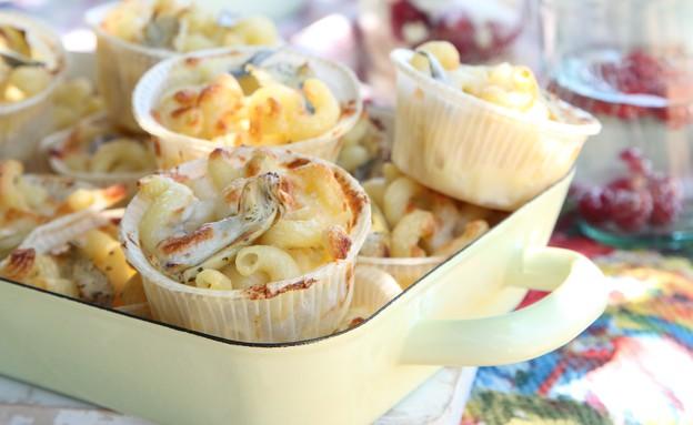 מאפה פסטה אישי עם לימון וארטישוקים (צילום: מתכוניישן)
