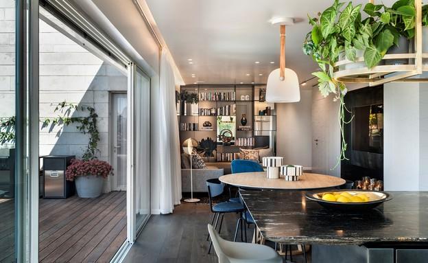 דירת גג בתל אביב, עיצוב אושרי אבירם ודנה קושמירסקי (1) (צילום: עודד סמדר)