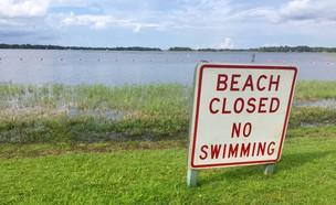 חוף סגור (צילום: Twitter/Ryanreports)