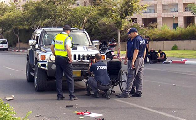 זירת התאונה, היום (צילום: החדשות)
