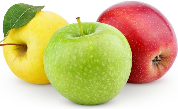 תפוחים בשלושה צבעים (צילום: Roman Samokhin, shutterstock)