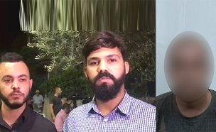 החשוד ושניים מהקורבנות (צילום: חדשות)