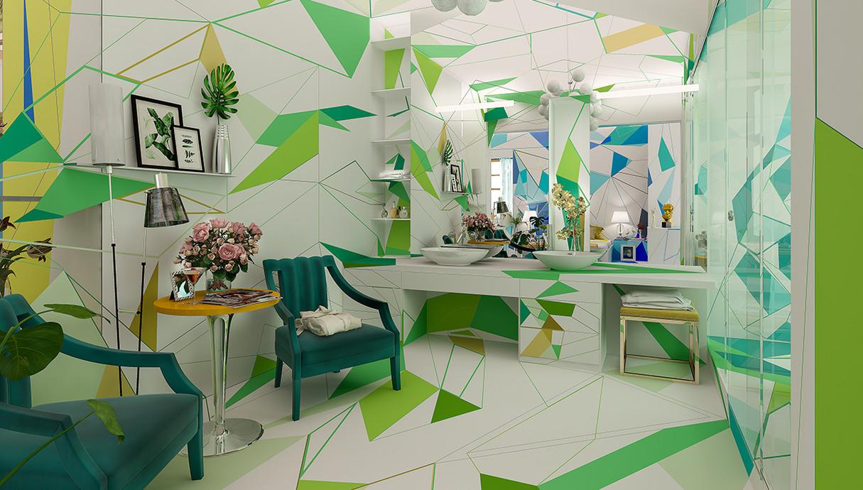 2 - בית צבעוני, חדר הורים, עיצוב Studio Brani & Desi