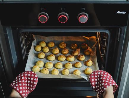 פחזניות - שלב התנור