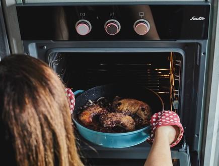 צלי עוף ביין, שלב התנור