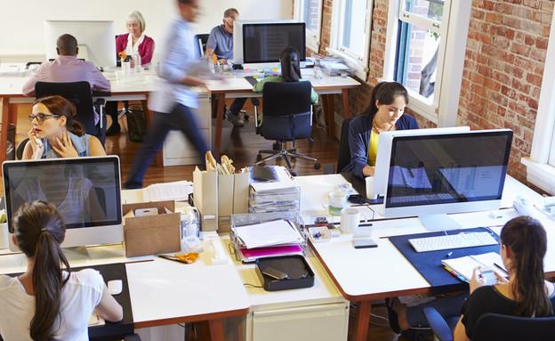 עובדים במשרד (צילום: By Dafna A.meron)