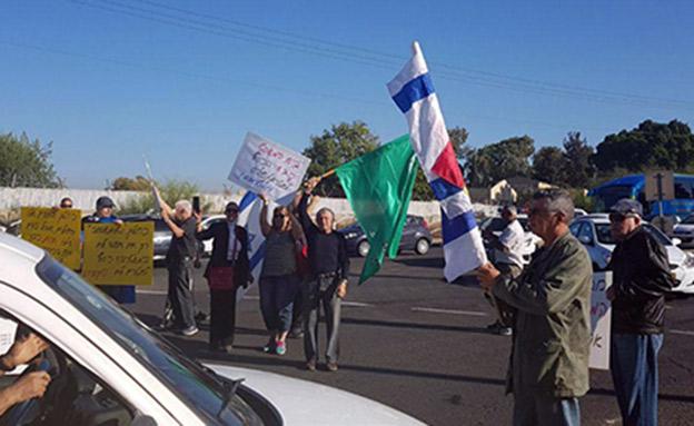 מאבק השוטרים. ארכיון (צילום: מטה המאבק, חדשות)