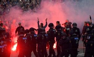 תיעוד ההפגנות נגד זרים בסקסוניה (צילום: רויטרס, חדשות)