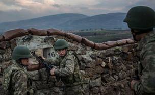 חיילים טורקים בגבול סוריה (צילום: Chris McGrath, gettyimages)