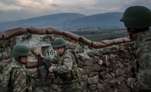 חיילים טורקים בגבול סוריה