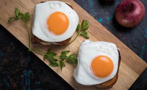 טוסט מכוסה ביצה עין (צילום: Igor Dutina, ShutterStock)
