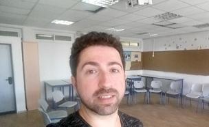 היום הראשון של מיכאל כמורה. צפו (צילום: החדשות)