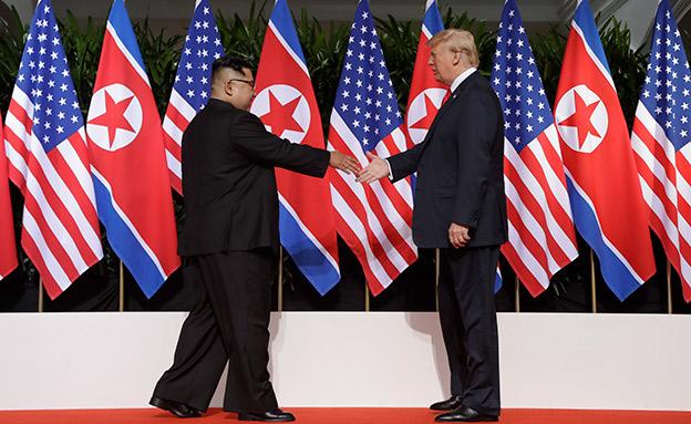 פסגת טראמפ-קים בסינגפור (צילום: AP, חדשות)