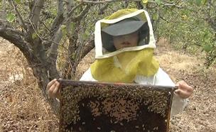 הילדים שמייצרים דבש בעצמם. צפו (צילום: החדשות)