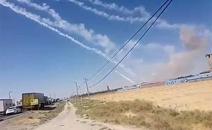 מטח של 7 טילים בליסטיים מבסיס משמרות המהפכה בעירק (צילום: חדשות)