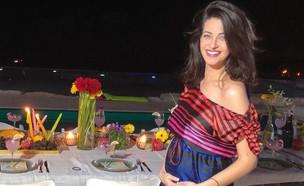 נטלי לוי בחודש חמישי להריונה (צילום: מתוך עמוד האינטסגרם של נטלי לוי)