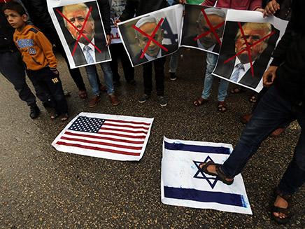 צפו: התגובה הפלסטינית לטראמפ